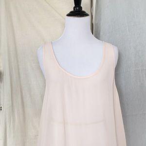 VS MODA pale peach pink rayon tank top dress M